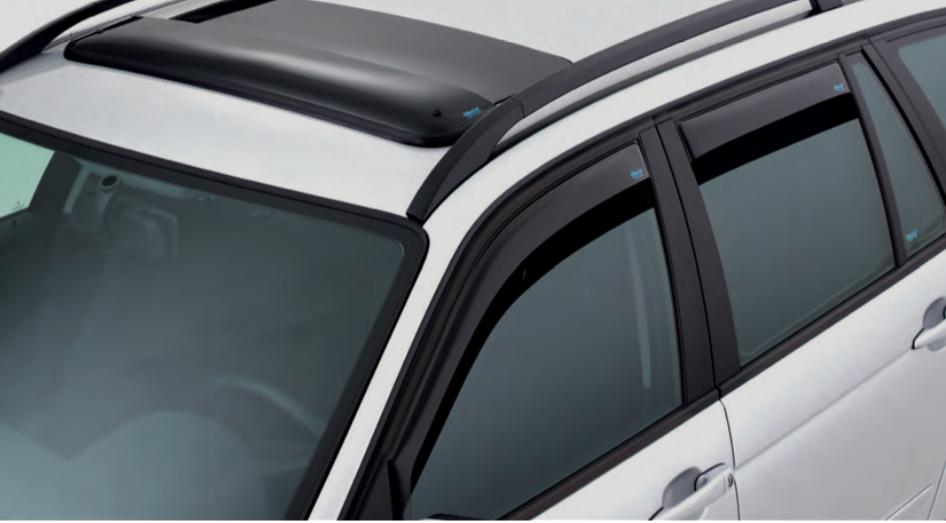 PDE Fastback 5-T/ürer 2018 kompatibel mit Hyundai i30 hinten Smoke ClimAir M2056 Fensterblenden Master